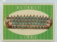 1961 Topps Football 37 Lions Team Excellent