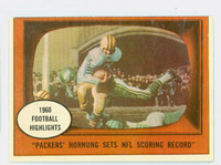 1961 Topps Football 38 Hornung Scoring Record Green Bay Packers Very Good to Excellent