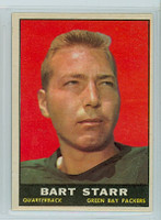 1961 Topps Football 39 Bart Starr Green Bay Packers Excellent to Mint