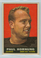 1961 Topps Football 40 Paul Hornung Green Bay Packers Excellent