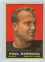 1961 Topps Football 40 Paul Hornung Green Bay Packers Excellent to Mint