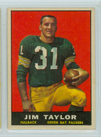 1961 Topps Football 41 Jim Taylor Green Bay Packers Very Good to Excellent
