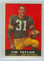 1961 Topps Football 41 Jim Taylor Green Bay Packers Excellent to Mint