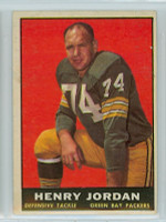 1961 Topps Football 45 Henry Jordan ROOKIE Green Bay Packers Excellent