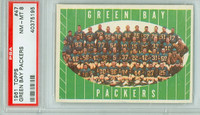 1961 Topps Football 47 Packers Team PSA 8 Near Mint to Mint