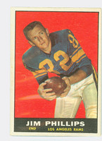 1961 Topps Football 51 Jim Phillips Los Angeles Rams Very Good to Excellent