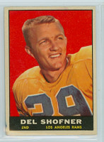 1961 Topps Football 52 Del Shofner Los Angeles Rams Excellent