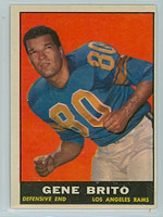 1961 Topps Football 54 Gene Brito Los Angeles Rams Excellent to Excellent Plus