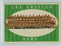 1961 Topps Football 56 Rams Team Excellent