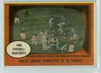 1961 Topps Football 57 Unitas TD Passes Baltimore Colts Very Good to Excellent