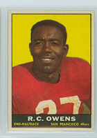 1961 Topps Football 61 RC Owens San Francisco 49ers Excellent to Mint