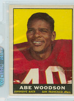 1961 Topps Football 65 Abe Woodson San Francisco 49ers Excellent to Excellent Plus