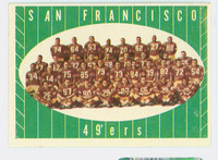 1961 Topps Football 66 49ers Team Excellent to Mint