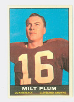 1961 Topps Football 68 Milt Plum Cleveland Browns Excellent to Mint