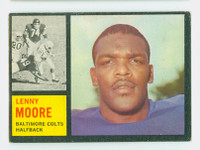 1962 Topps Football 2 Lenny Moore Baltimore Colts Excellent