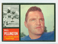 1962 Topps Football 9 Bill Pellington Baltimore Colts Excellent to Mint