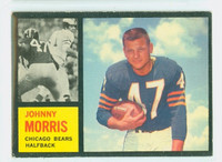1962 Topps Football 15 Johnny Morris Single Print Chicago Bears Very Good to Excellent