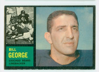 1962 Topps Football 22 Bill George Chicago Bears Excellent