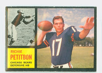 1962 Topps Football 23 Richie Petitbon ROOKIE Chicago Bears Very Good to Excellent