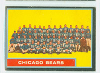 1962 Topps Football 25 Bears Team Very Good to Excellent