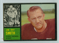1962 Topps Football 30 Jim Ray Smith Cleveland Browns Excellent to Excellent Plus