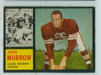 1962 Topps Football 31 John Morrow Cleveland Browns Excellent