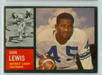 1962 Topps Football 51 Dan Lewis Detroit Lions Excellent
