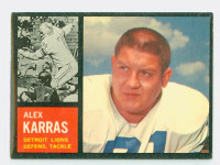 1962 Topps Football 58 Alex Karras Detroit Lions Excellent to Mint