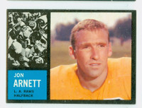 1962 Topps Football 78 Jon Arnett Single Print Los Angeles Rams Excellent to Mint