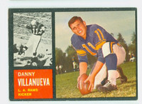 1962 Topps Football 85 Danny Villanueva Los Angeles Rams Very Good to Excellent