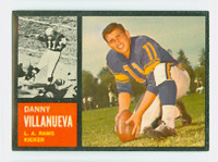 1962 Topps Football 85 Danny Villanueva Los Angeles Rams Excellent to Mint