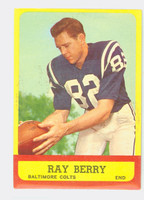 1963 Topps Football 4 Raymond Berry Baltimore Colts Excellent