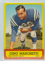 1963 Topps Football 8 Gino Marchetti Baltimore Colts Excellent to Mint