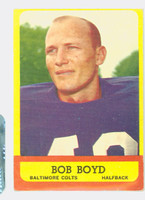 1963 Topps Football 11 Bob Boyd ROOKIE Baltimore Colts Very Good