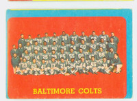 1963 Topps Football 12 Colts Team Single Print Very Good