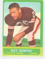 1963 Topps Football 15 Ray Renfro Single Print Cleveland Browns Excellent