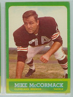 1963 Topps Football 17 Mike McCormack Single Print Cleveland Browns Excellent to Mint
