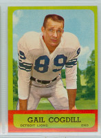 1963 Topps Football 28 Gail Cogdill Detroit Lions Near-Mint