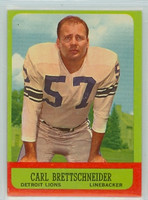 1963 Topps Football 31 Carl Brettschneider Detroit Lions Very Good to Excellent