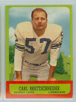 1963 Topps Football 31 Carl Brettschneider Detroit Lions Excellent to Excellent Plus