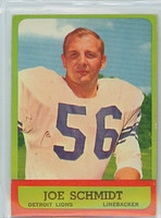 1963 Topps Football 35 Joe Schmidt Detroit Lions Excellent