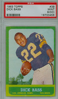 1963 Topps Football 39 Dick Bass Los Angeles Rams PSA 9 OC