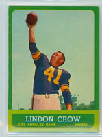 1963 Topps Football 45 Lindon Crow Los Angeles Rams Excellent