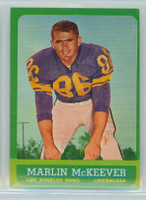 1963 Topps Football 46 Marlin McKeever Los Angeles Rams Excellent