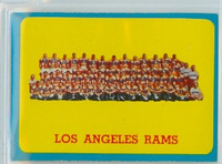 1963 Topps Football 48 Rams Team Excellent