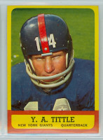 1963 Topps Football 49 YA Tittle Single Print New York Giants Excellent