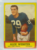 1963 Topps Football 51 Alex Webster Single Print New York Giants Very Good