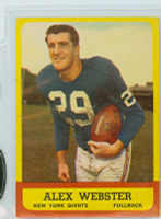 1963 Topps Football 51 Alex Webster Single Print New York Giants Excellent