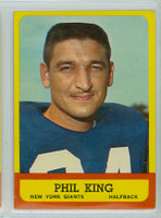 1963 Topps Football 52 Phil King Single Print New York Giants Excellent