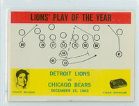 1964 Philadelphia 70 Lions Play Excellent to Mint